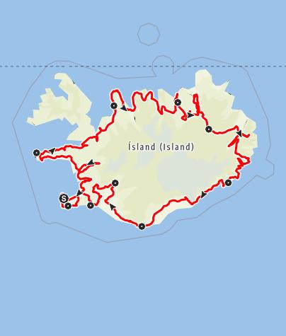Map / In 10 Tagen um Island