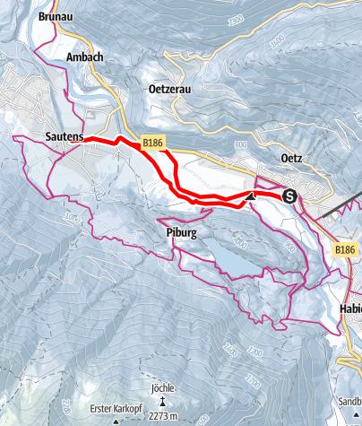 Karte / Medinger Weg Runde Sautens - Ötz - Sautens