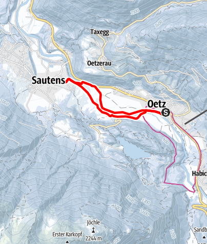 Map / Medinger Way Round Sautens - Ötz - Sautens