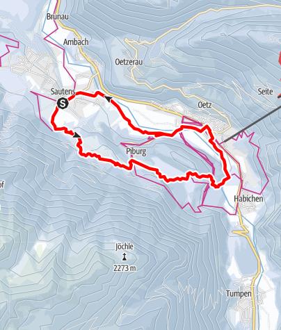 Karte / Rundweg - Sautens