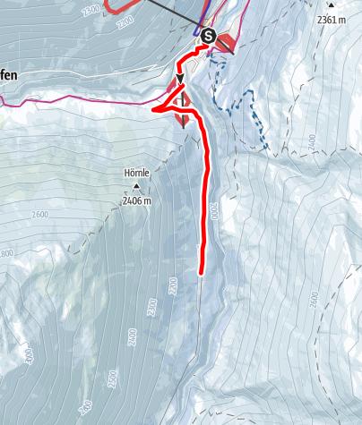 Karte / Winterwanderweg Niedertal - Bergsteigerdorf Vent