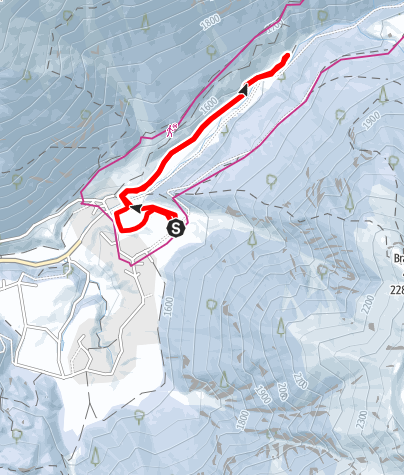 Map / cross country ski track Horlachtal - Umhausen-Niederthai