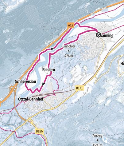 Map / Haiming - Schlierenzau - Haiming