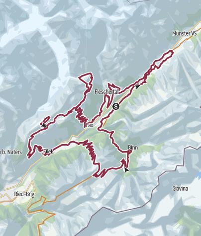 Karte / Stoneman Glaciara