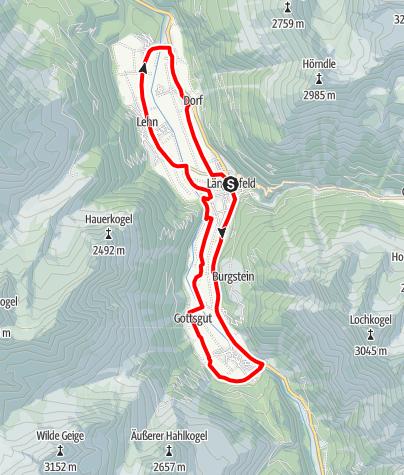 Map / Rennradtour - Längenfelder Runde