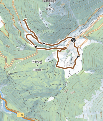 地图 / Bike-Runde um Niederthai (662)