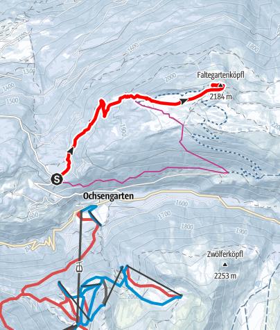 Karte / Faltegartenköpfl