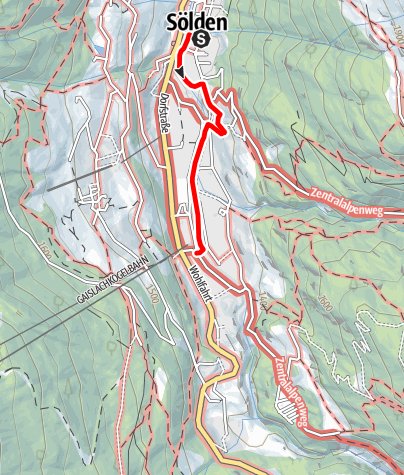 Map / Experience mile - Highlights of Sölden on one mile
