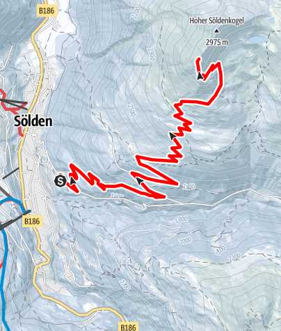 Map / Söldenkogel - Sölden