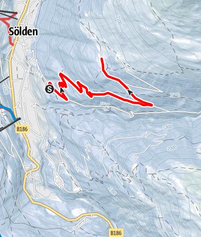 Karte / Stallwiesalm - Sölden