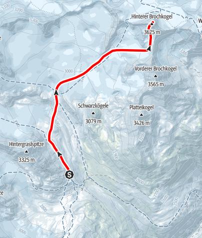 Map / Hinterer Brochkogel
