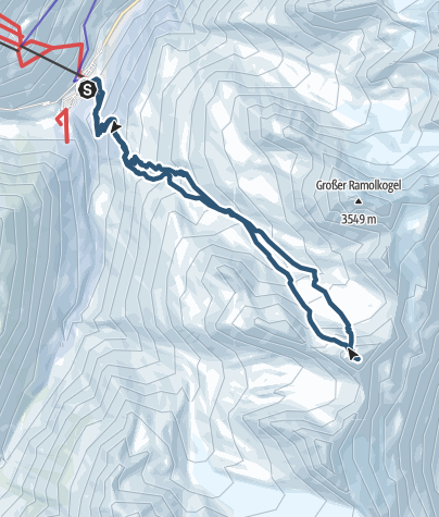 Map / Hinterer Spiegelkogel