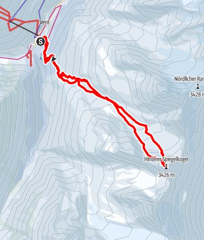 Karte / Hinterer Spiegelkogel