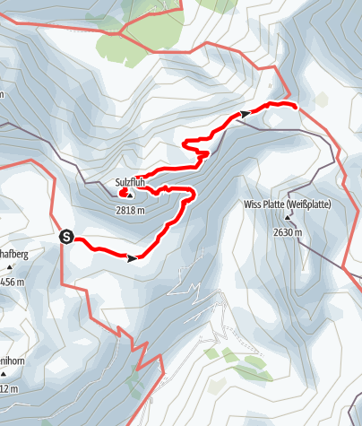 Karte / Rätikonrunde Montafon - Carschinahütte bis Tilisunahütte