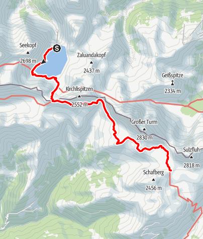 Karte / Rätikonrunde Montafon - Douglass-Hütte bis Carschinahütte