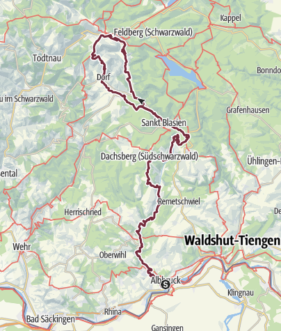 Karte / Albsteig Schwarzwald