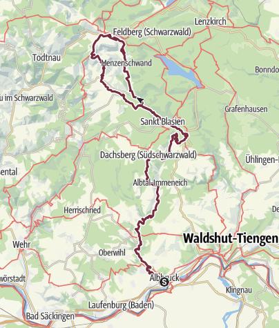 Map / Albsteig Schwarzwald
