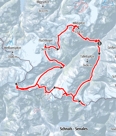 Karte / Venter Skirunde- Ötztaler Klassiker