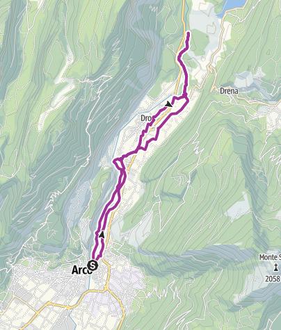 Cartina / 3.2. Pedalando nella Valle del Sarca: da Arco a Fies