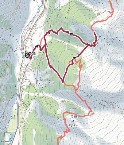 Map / Circular Hike to the Suspension Bridge in Randa