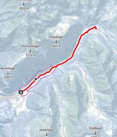 Map / Schweinfurter Hütte