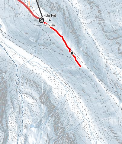 Karte / Hohe Mut Sattel