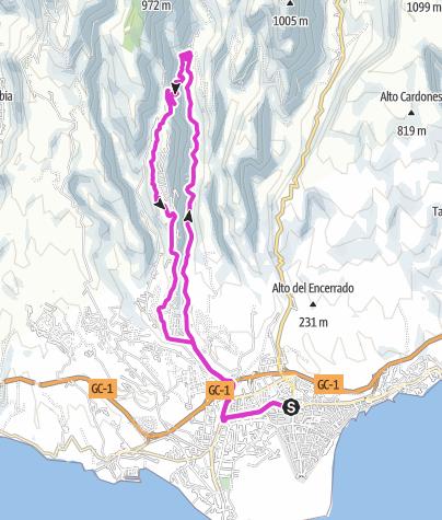Karte / Kurze Hausrunde von Maspalomas