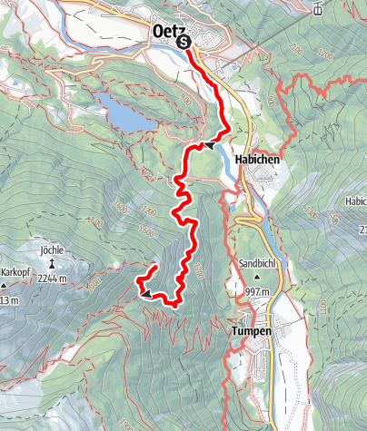 Karte / Oetz - Armelenhütte