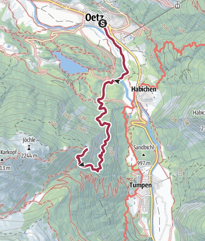 Map / Oetz - Armelen hut