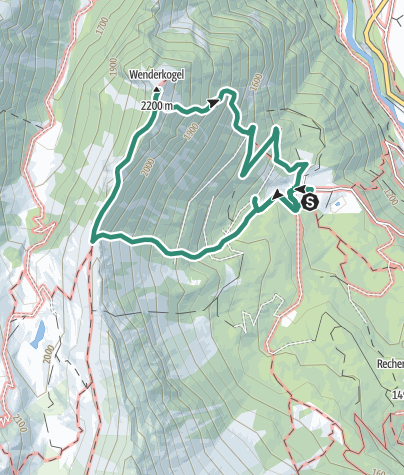 Map / Wenderkogel - Umhausen-Niederthai