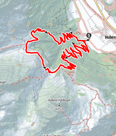 Karte / Hochalmen Wanderweg- Längenfeld/Huben