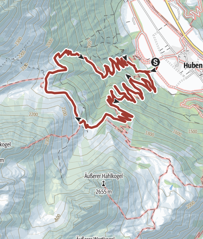 Map / Hochalmen Wanderweg- Längenfeld/Huben