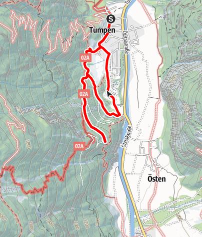 Karte / Talblick Tumpen - Umhausen-Niederthai