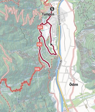 Map / Talblick Tumpen - Umhausen-Niederthai