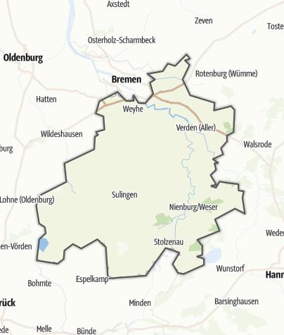 Karte / Mittelweser