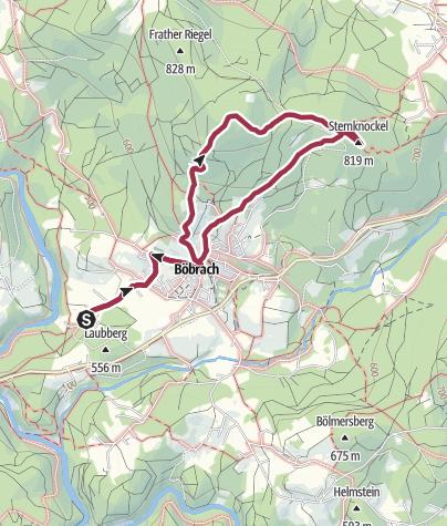 Karte / Wanderung von Böbrach auf die Platte und zum Sternknöckel