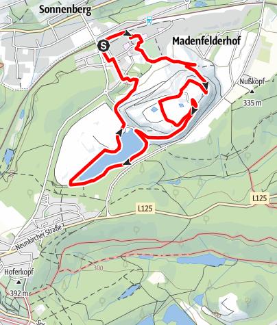 Map / Redener Bergbaupfade-Redener Panoramapfad