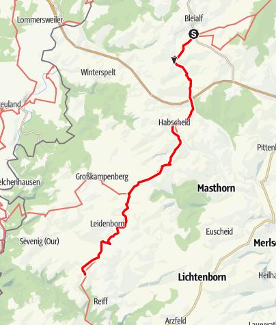 Karte / Matthiasweg (6) - 7. Etappe
