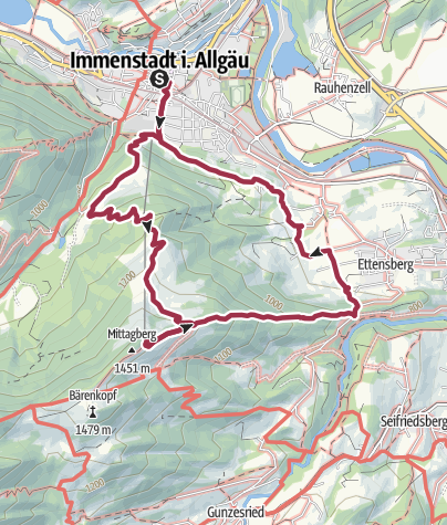 Map / Climbing the Mittag