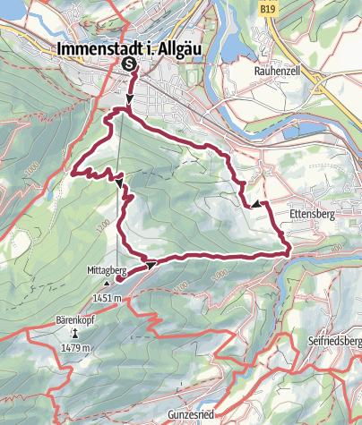 Karte / Auf den Mittag