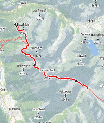 Karte / Wilhelm-Oltrogge-Weg Hochoetz