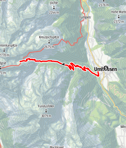 Map / Weather lake - Umhausen-Niederthai