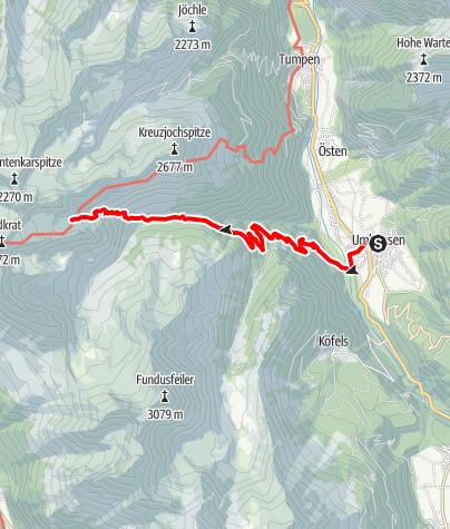 Karte / Wettersee - Umhausen-Niederthai
