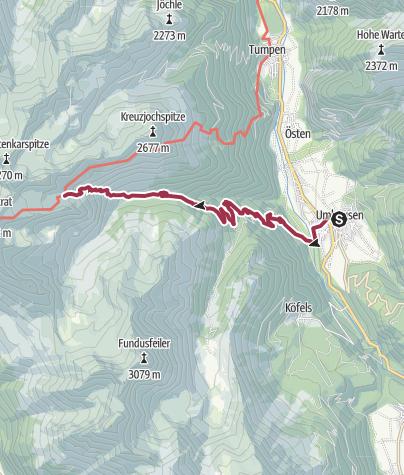 Map / Erlanger Hut - Umhausen-Niederthai