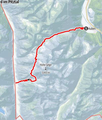 Karte / Breitlehn- und Kapuzinerjöchl  (vom Ötztal ins Pitztal) - Längenfeld/Huben
