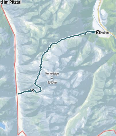 Mapa / Breitlehn- und Kapuzinerjöchl  (vom Ötztal ins Pitztal) - Längenfeld/Huben