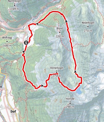 Karte / Hemerkogel - Umhausen-Niederthai