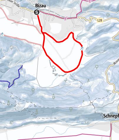 Karte / Bizau   Loipe Oberdorf