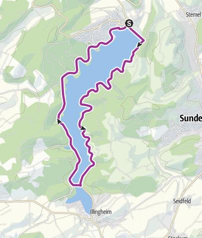 """Map / Radtour """"Rund um den Sorpesee"""""""
