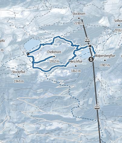 Map / Auf das Cheibenhorn im Simmental